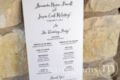 simple wedding program wedding ceremony programs wedding day stationery