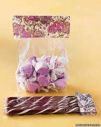 salt water taffy wedding favor wedding colors lilac and brown martha stewart weddings