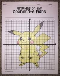 coordinate plane graphing pikachu graphing on the coordinate plane mystery picture by