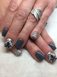 gel nail designs grey black and white nail designs and nail art