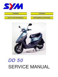 sym dd 50 service manual carburetor piston