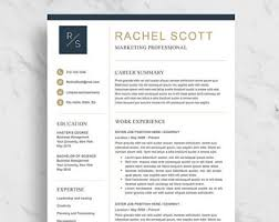 Download Professional Resume Template Marketing Resume Etsy