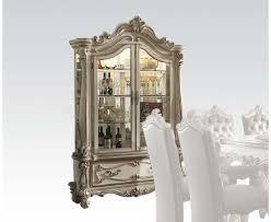 White Curio Cabinet Versailles 61153 Curio Cabinet In Bone White By Acme