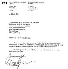 lettre de demande de fourniture de bureau archivée rapport annuel de l enquêteur correctionnel 2003 2004