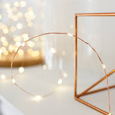 Copper String Lights by Micro Fairy Lights Lights4fun Co Uk