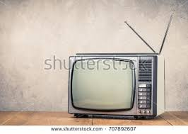 Retro Table Retro Old Tv Set Receiver On Stock Photo 707892607 Shutterstock