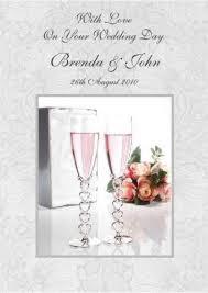 Wedding Day Card Personalised Wedding Cards Ebay
