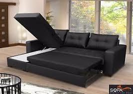 Corner Sofa Sleeper Brand New Corner Sofa Bed With Storage Top Quality Eco Leather Ebay