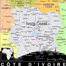 Ivory Coast Map Ivory Coast Africa Exotic Map Mixed Media By Florene Welebny