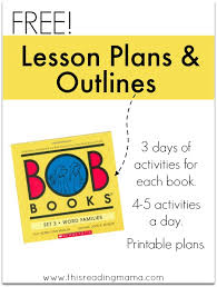 lesson plans outlines bob books 3