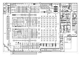 supermarket plans u2013 cad design free cad blocks drawings details