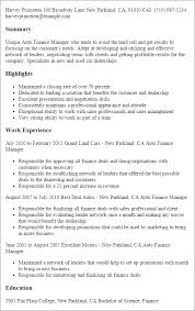 Salon Manager Resume Professional Auto Finance Manager Templates To Showcase Your