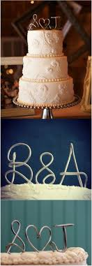 wire cake toppers handmade wire cake toppers personalized with your name initials
