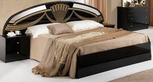 lit de chambre chambre lit noir cadre de lit tte de lit cm bois laqu noir