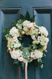 wedding wreath hydrangea and wedding wreath elizabeth designs the