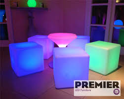 secondhand prop shop led furniture led seating cubes and table