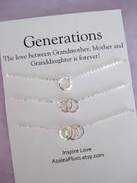 grandmother granddaughter necklace generations necklace 60th birthday grandmother