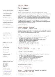 retail manager resume retail manager resume template retail manager cv template resume