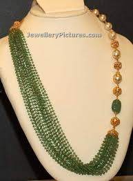 long pearl bead necklace images Pearl long chain in gold jewellery designs jpg