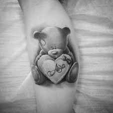 cute teddy bear tattoos design ideas with meaning