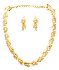 best necklace sets images Touchstone golden necklace set buy touchstone golden necklace jpg