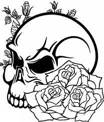 imagenes para colorear rosas calavera y rosas para colorear opticanovosti 4c9a07527d71