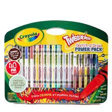 b u0026m crayola twistable sketch u0026 draw 40pc 248701 b u0026m