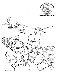 three billy goats gruff coloring pages funycoloring