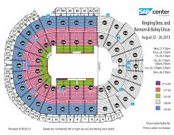 sap center seating chart with rows brokeasshome com ringling bros circus sap center