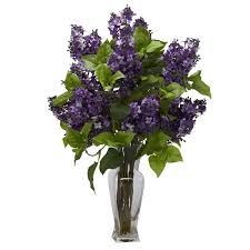 amazon com nearly natural 1256 lilac silk flower arrangement