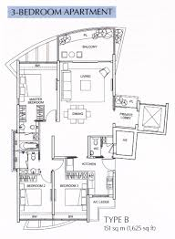 3 bedroom flat plan drawing floor plan the solitaire at balmoral park by city developments ltd
