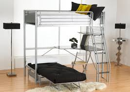 Study Bunk Bed Frame With Futon Chair Loft Bed With Desk Underneath Bunk Beddouble Bed Beds Top