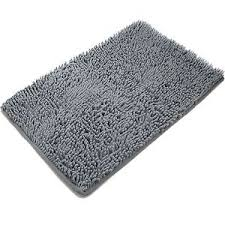 Shag Bathroom Rug Non Slip Microfiber Shag Bathroom Rug Gray Bath Mats Shower