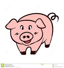 pig vector cartoon stock vector image mascot isolated 32712187