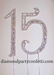 rhinestone number cake toppers large rhinestone silver quinceanera 15 birthday number