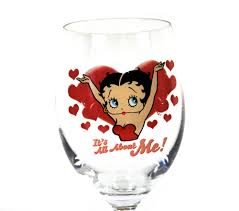 cartoon wine glass betty boop u0027it u0027s all about me u0027 wine glass pink cat shop