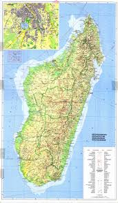 Africa Topographic Map by Large Detailed Topographic Map Of Madagascar With All Roads