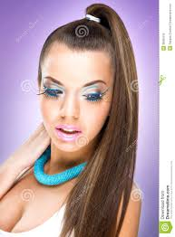 extreme luxury makeup model beautiful woman with healthy hair and