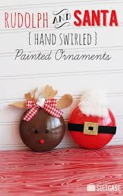 diy rudolph and santa tree ornaments