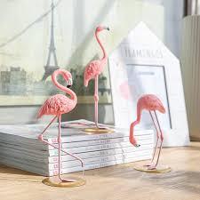 pink flamingo home decor resin pink flamingo home decor figure for girl ins hot home decor