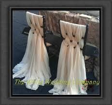 sashes for chairs 20pcs ivory silk chair sashes chair cover ups for wedding