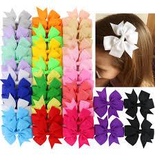 amazon com 6 inch hair bows big large grosgrain ribbon boutique