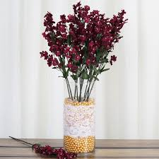 Party Centerpieces Balsacircle 12 Bushes Baby Breath Silk Filler Flowers For Wedding