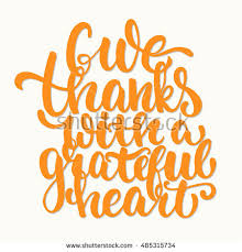 give thanks grateful thanksgiving day stock vector 485315734