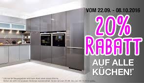 alma küche alma küchen aktion 20 rabatt auf alle küchen