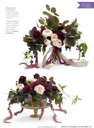 Wedding Flower Magazines - burgundy deep purple flowers for wedding flowers magazine