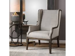 Occasional Dining Chairs Armchair Occasional Chairs Gray Wingback Chair Gray Faux Leather