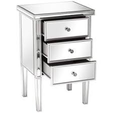 3 drawer accent table olivia antique silver mirrored 3 drawer accent table 6v402