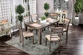 taylah dining set by furniture of america cm3607t 7pk a bedder