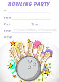 bowling party invitations free printable kids birthday party
